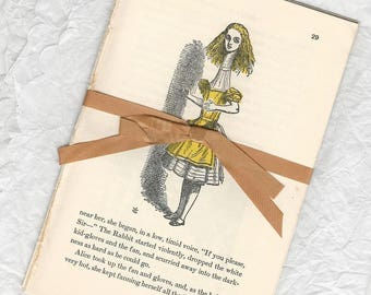 Alice in Wonderland, Through the Looking Glass, old paper, Lewis Carroll, vintage book pages, scrapbooking, journals, paper crafts