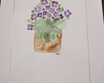 Original Watercolor Painting - 12x16 - Flowers