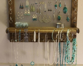 Wall jewelry rack Etsy