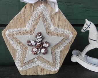 Christmas on Driftwood decoration