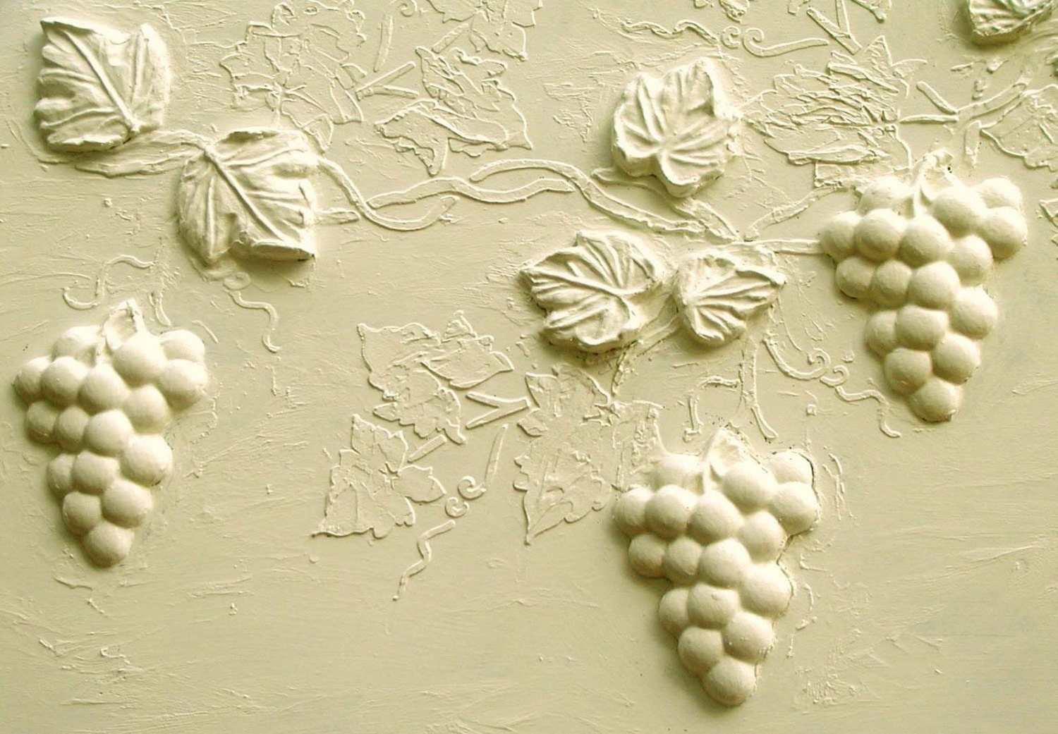 Stencil Wall Stencil Raised Plaster Grape Vine and Plaster