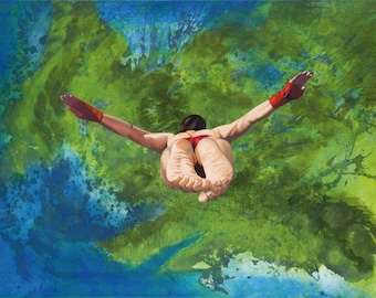 Yearning For Acapulco – contemporary painting, modern art, canvas painting, art, high quality, limited edition art prints