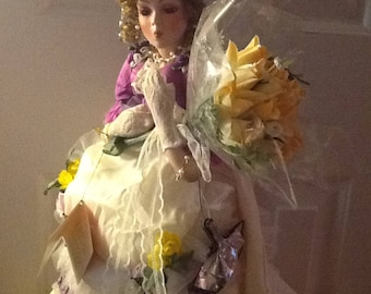 "Porcelain Paradise Galleries Doll, ""Rose"" Musical From the Old West Treasury Collection"