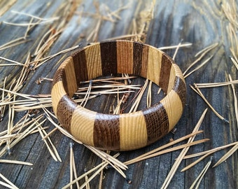 Wooden Jewelry, Wood Bangle, Wooden Bracelet for Women, Gift for Her