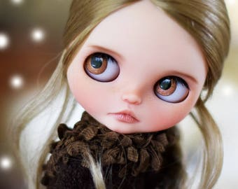 """10-11"""" BEAUTIFUL Light Ginger blond doll WIG for Custom Blythe and Neo Blythe, American Girl"""