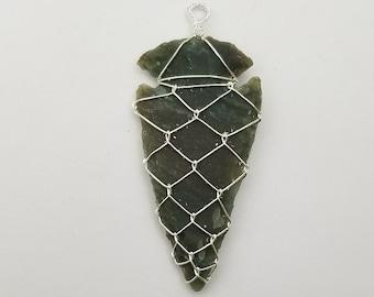 Jasper Arrowhead Pendants