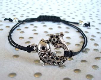 Koi Charm Bracelet Silver