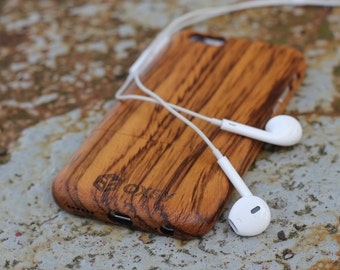 OXSY Zebrawood Genuine Solid Wooden Case - Apple iPhone 7