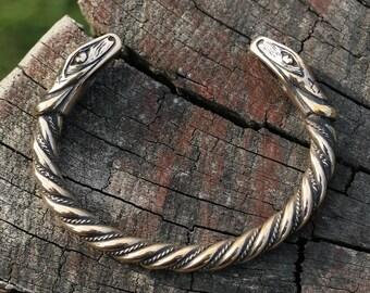 Jörmungandr Viking Bracelet Snake Serpent bronze Vikings Jewellery Jewelry Pagan Norse Celtic Snakes Reptile Bangle Handmade Heathen Larp