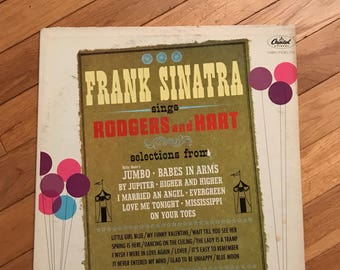 Frank Sinatra Vintage Music Vinyl Record 33 LP Album  Sings My Funny Valentine Rodgers and Hart Songs Capital Label 1960s lcww