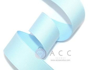 5Yards Baby Blue Solid Grosgrain Ribbon - 5mm(2/8''), 10mm(3/8''), 15mm(5/8''), 25mm(1''), and 40mm(1 1/2'')