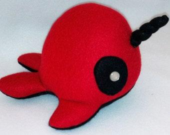 Deadpool Narwhal Plush Toy Narpool