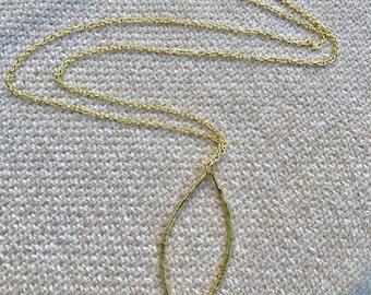Delicate Gold Long Chain Pendant Necklace