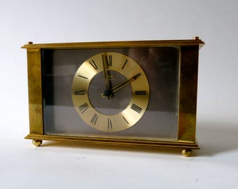 Brass Kundo mantel clock - vintage german clock - table clock - mid century modern - classic design - R0121