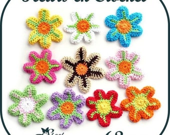 Flower hook 63mm SCRAPBOOKING EMBELLISHMENT sewing