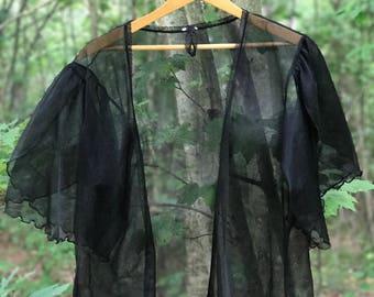 see through black robe or kimono