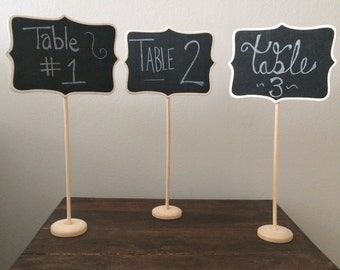Charmant 10 Large Chalkboard Table Stands   Shabby Chic Wedding Decor. Chalkboard  Signs By HandStampology