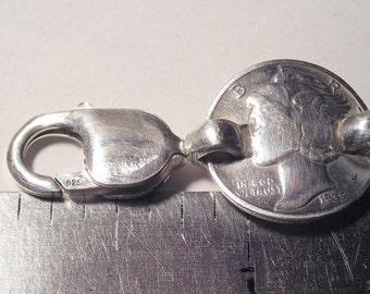 8 Old Silver Mecury Dime  Bracelet Linked