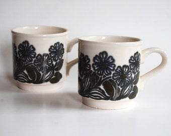 Pair of Vintage Bilton's Coffee Mugs, Made in England