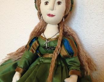 Lucrezia Borgia, a soft sculpture doll