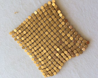 Mesh gold metal 5 cm square