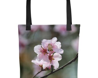 Springtime Peach Tree Flower Blossoms Tote bag