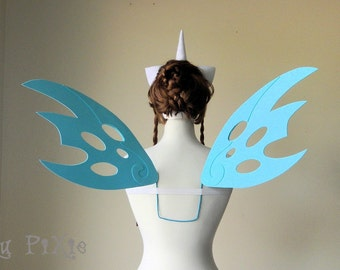Queen Chrysalis My Little Pony Cosplay Wings, Large MLP Alicorn Accessories, Adult Kids Halloween Costume, Brony Cons Festivals