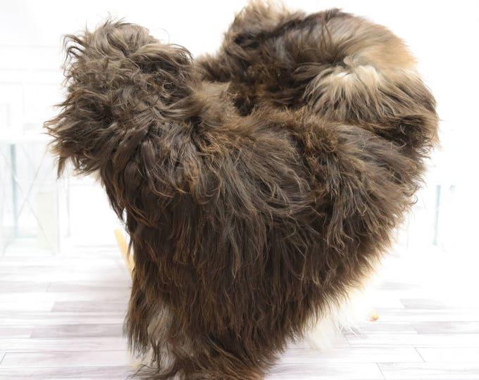 Icelandic Sheepskin | Real Sheepskin Rug | I Brown Sheepskin Rug | Fur Rug | Christmas Decorations #TADISL4