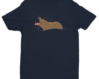 Hippo Snowflake Men's Short Sleeve T-shirt
