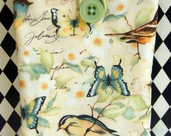 Kindle Cover Sleeve ~ Birds and Butterflies