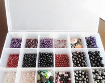 Beads Lot Mix Gemstone Glass Focal Assortment for Jewelry Making DIY