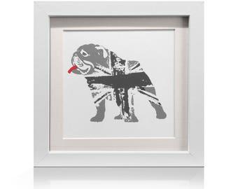 Bulldog Union Jack Original Art Print