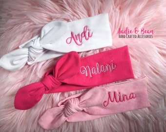 Personalized baby etsy more colors personalized baby headband negle Gallery