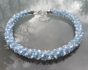 Blue Eyes Kumihimo Necklace