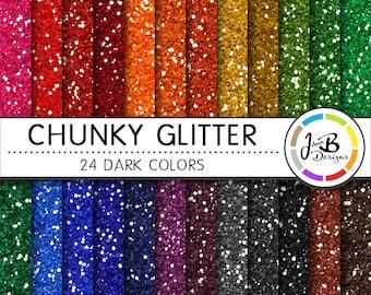 Glitter Digital Paper, Glitter Paper, Scrapbook Paper, Chunky Glitter, Glitter, Glitter Texture, Glitter Digital, Glitter Background, Dark