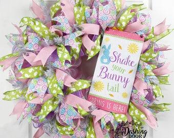 Bunny Wreath, Rabbit Wreath, Easter Wreath, Spring Wreath, Front Door Wreath, Easter Decor, Spring Decor