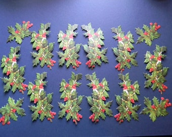 Full Color Holly Die Cuts (514)