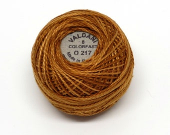 Valdani Pearl Cotton Thread Size 8 Variegated: #O217 Yummy Pumpkin