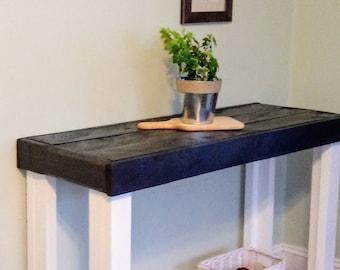 Farmhouse Foyer Table Decor : Rustic foyer table etsy