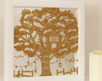 Personalised Treehouse Family Tree Wall Art