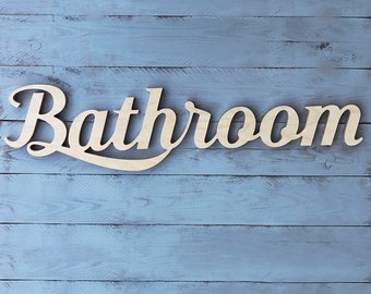 Bathroom sign - bathroom decor - bathroom decoration - bathroom door sign - bathroom signs - bathroom wall art - signs for home - wood gift