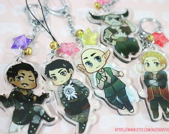 "2"" Dragon Age Inquisition Charms"