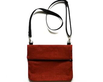 Crossbody Bag / Crossbody Bags / Foldover Bag / Orange Crossbody Bag / Crossbody Bag Orange / Crossbody Purse / Crossbody Purses / Vegan Bag