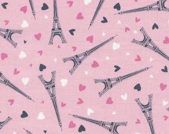 Tossed Eiffel Towers - Half yard Cut - Timeless Treasures - Cotton Fabric - Quilting Fabric - Paris Fabric Fabric
