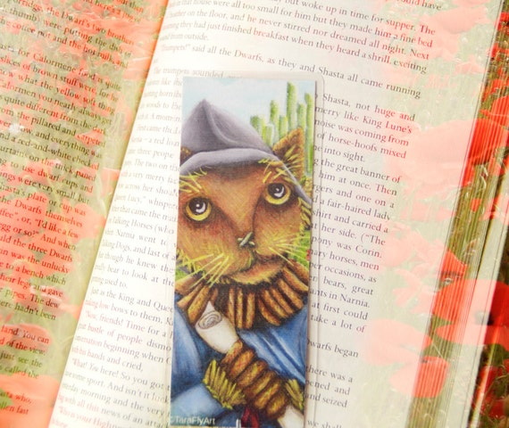 Scarecrow Cat Wizard of Oz Bookmark