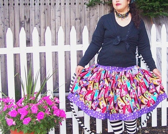 Lovely Geishas Purple Lolita Twirly Skirt