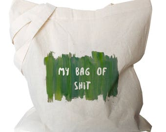 Funny Market Bags - Grocery Canvas Bag - Funny Tote Bags - Grocery Bags - Funny Tote Bags - Green Tote Bag