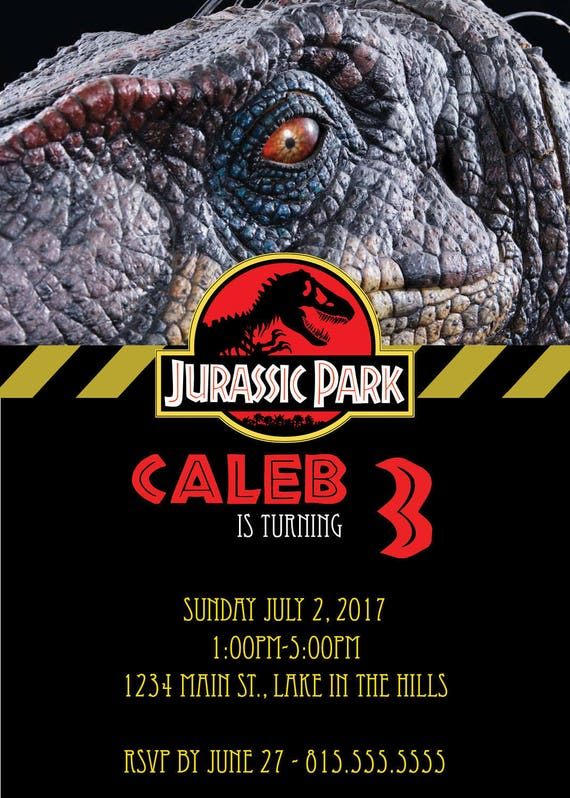 DIGITAL Jurassic Park Party Invitation