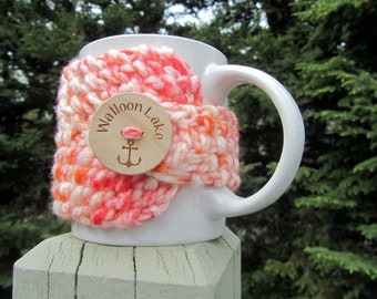 WALLOON LAKE Up North Michigan Coffee Cup Cozy - Perfect for Gift Giving or Keeping and Environmentally Friendly