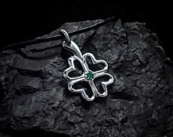 Clover Titanium Pendant. Titanium Jewelry. Exclusive and hand-made titanium jewelry. Titanium clover.Custome titanium pendant.Titanium luck